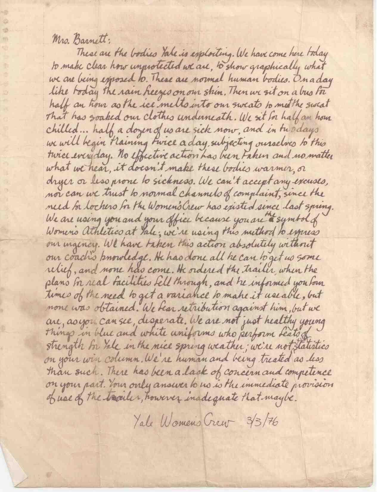 CKErnst Yale Protest Letter
